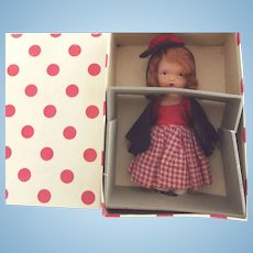 Bisque Storybook Doll One Two Buckle My Shoe, Original Box