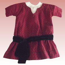 Early Doll Dress As Is