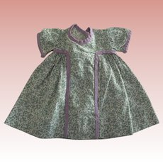 Cotton Print Dress For 40's or 50's Doll