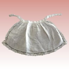 Fine Cotton Lace Trimmed Doll Apron