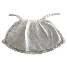 Fine Cotton Lace Trimmed Doll Apron