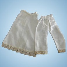 Vintage Flannel Slip and Pantaloons