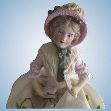 Bisque Pincushion Doll