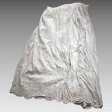 Victorian/Edwardian Large Eyelet Petticoat