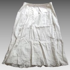 Victorian/Edwardian Petticoat With Embroidery