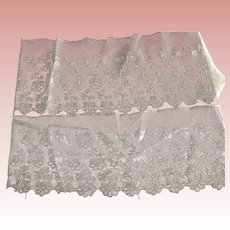 Tambour Lace In Three Pieces