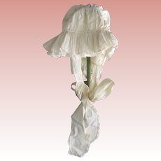 Early Cotton Bonnet, Adult, Child or Large Doll