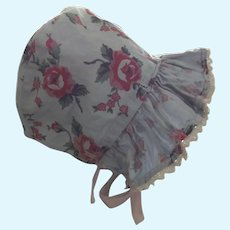 Two Cotton Doll Poke Bonnets