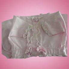 Pink Polished Cotton Doll Dress