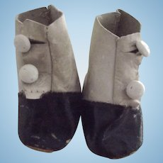 Black and White Doll Boots
