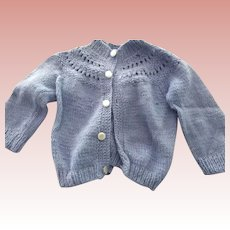 Blue Sweater For Doll or Bear
