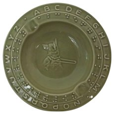 Braille Ashtray With Seeing Eye Dog