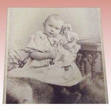 CDV Baby and Doll