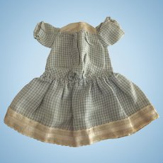 Blue and White Doll Dress