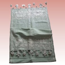 Large Linen Runner With Embroidery