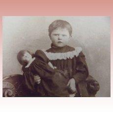 CDV Little Girl and Her Doll
