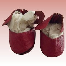 Tiny Red Oil Cloth Shoes