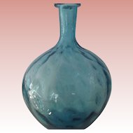 Blue Hand Blown Vase