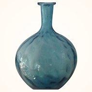 Blue Hand Blown Vase