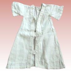 White Robe or Coat For Doll