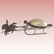 Mother of Pearl Trinket Box Sleigh