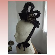 Early Elaborate  Mourning Hat