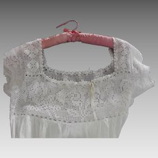 Edwardian Nightgown With Bird Embroidery