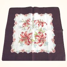 Handkerchief With Lilies