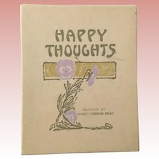 Happy Thoughts Art Nouveau Book