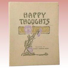 Happy Thoughts Art Nouveau Book