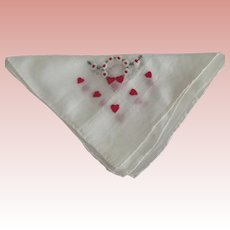 Handkerchief With Hearts