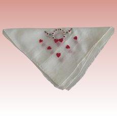 Handkerchief With Hearts