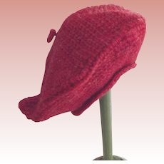 Red Knitted Doll Tam Hat