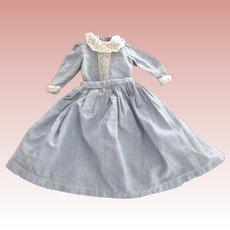 Blue Two Piece Doll Dress