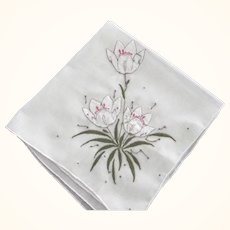 Handkerchief With Raised Floral Design