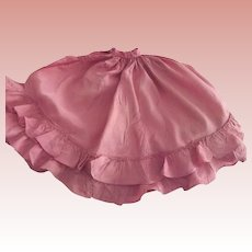 Bright Pink Taffeta Skirt With Ruffles