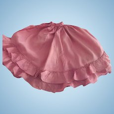 Bright Pink Taffeta Skirt With Ruffles