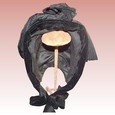 Victorian/Edwardian Mourning Bonnet