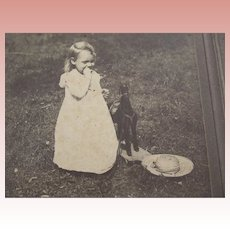 Victorian/Edwardian Photo of A Child, Toy Horse