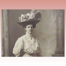 Victorian/Edwardian Lady In A Huge Hat