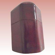 Unusual Shaped Burgundy Red Box
