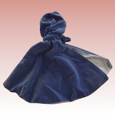 Blue Velvet Doll Cape