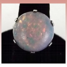 Simulated Opal Ring