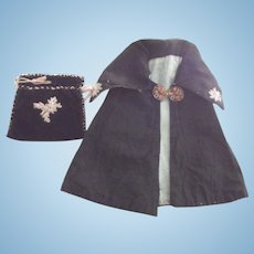 Cape and Purse  For Bisque Doll