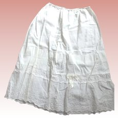 Vintage Cotton Half Slip