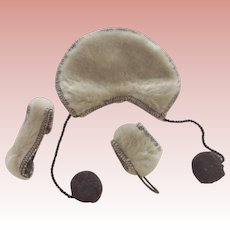 Faux Fur Cape, Muff and Headband For Jill