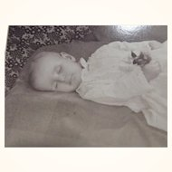 Post Mortem Baby CDV