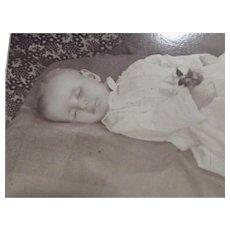 Post Mortem Baby CDV
