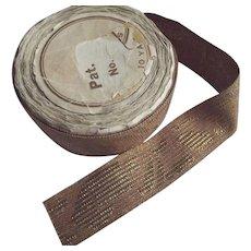 Brown Ribbon/TrimWith Metal Work