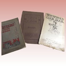 Three Old Paperback Cookbooks